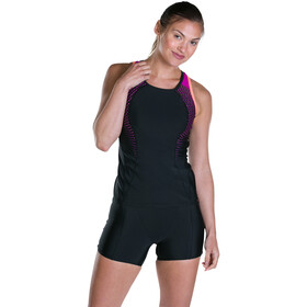 speedo Speedo Pro Tankini Damen black/diva /fluo orange
